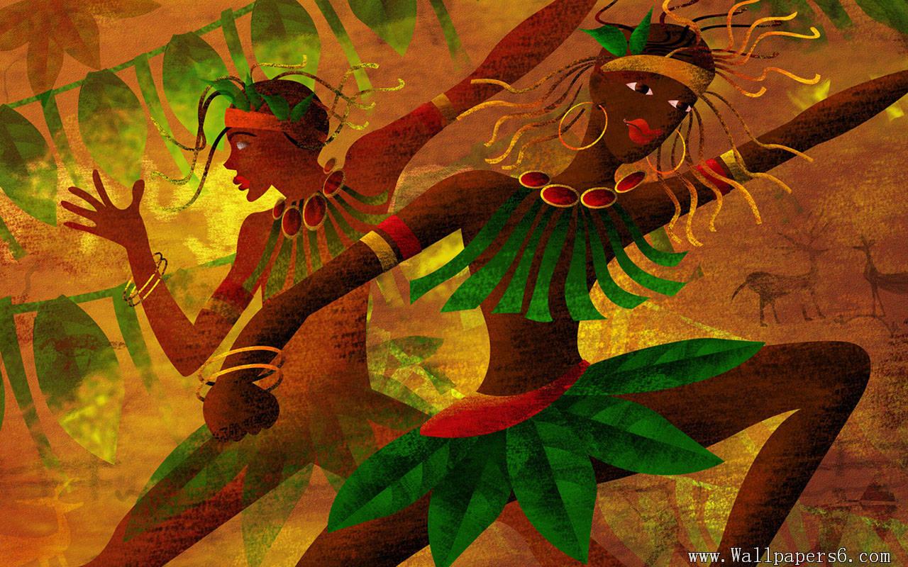HD African Art Wallpaper 1280x800