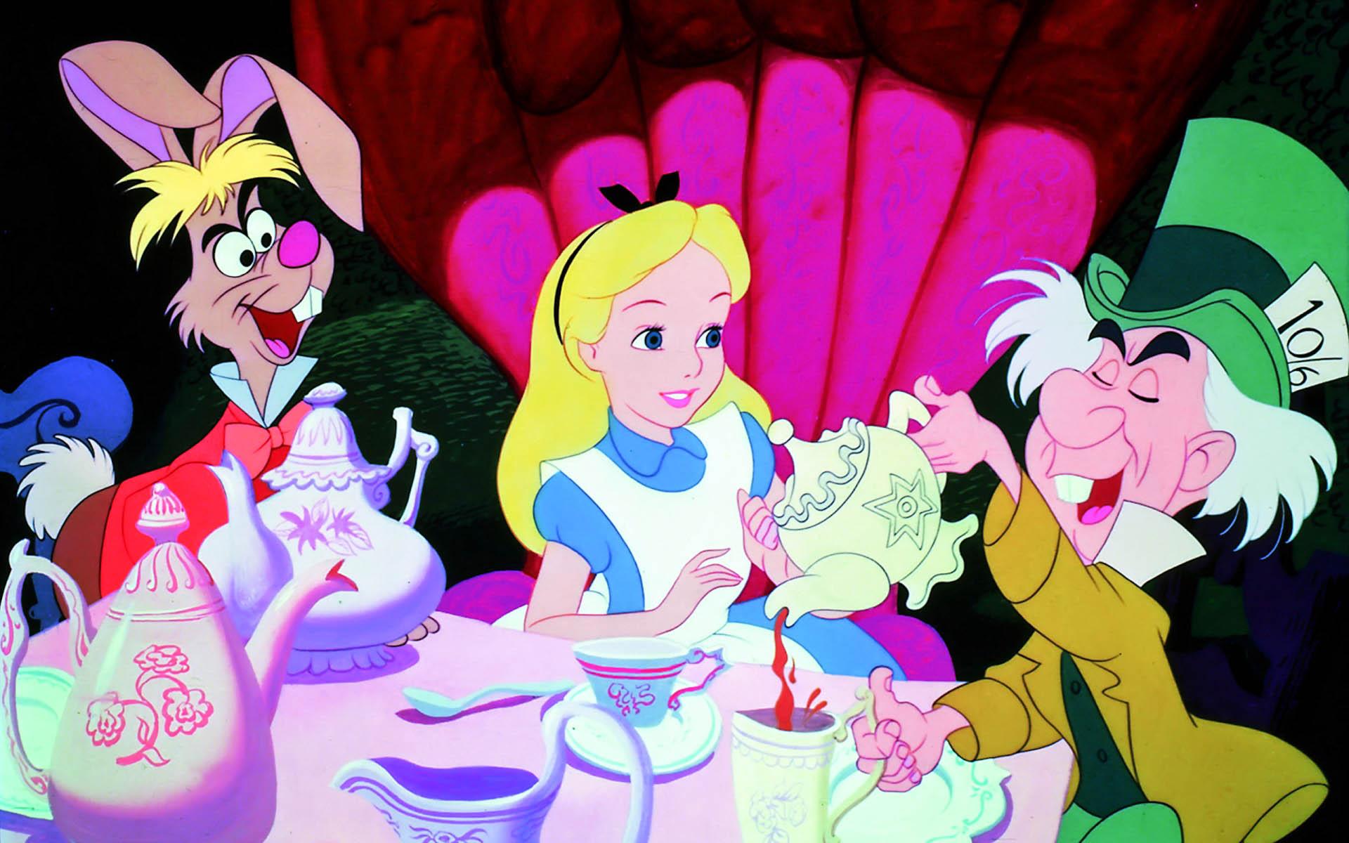 Alice In Wonderland Collage Hd Wallpaper Cartoon Animation 1920x1200