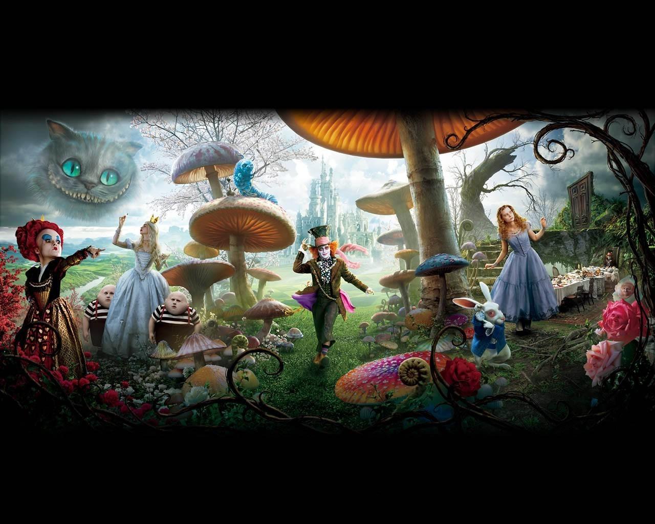 Alice In Wonderland Disney Wallpaper 1280x1024