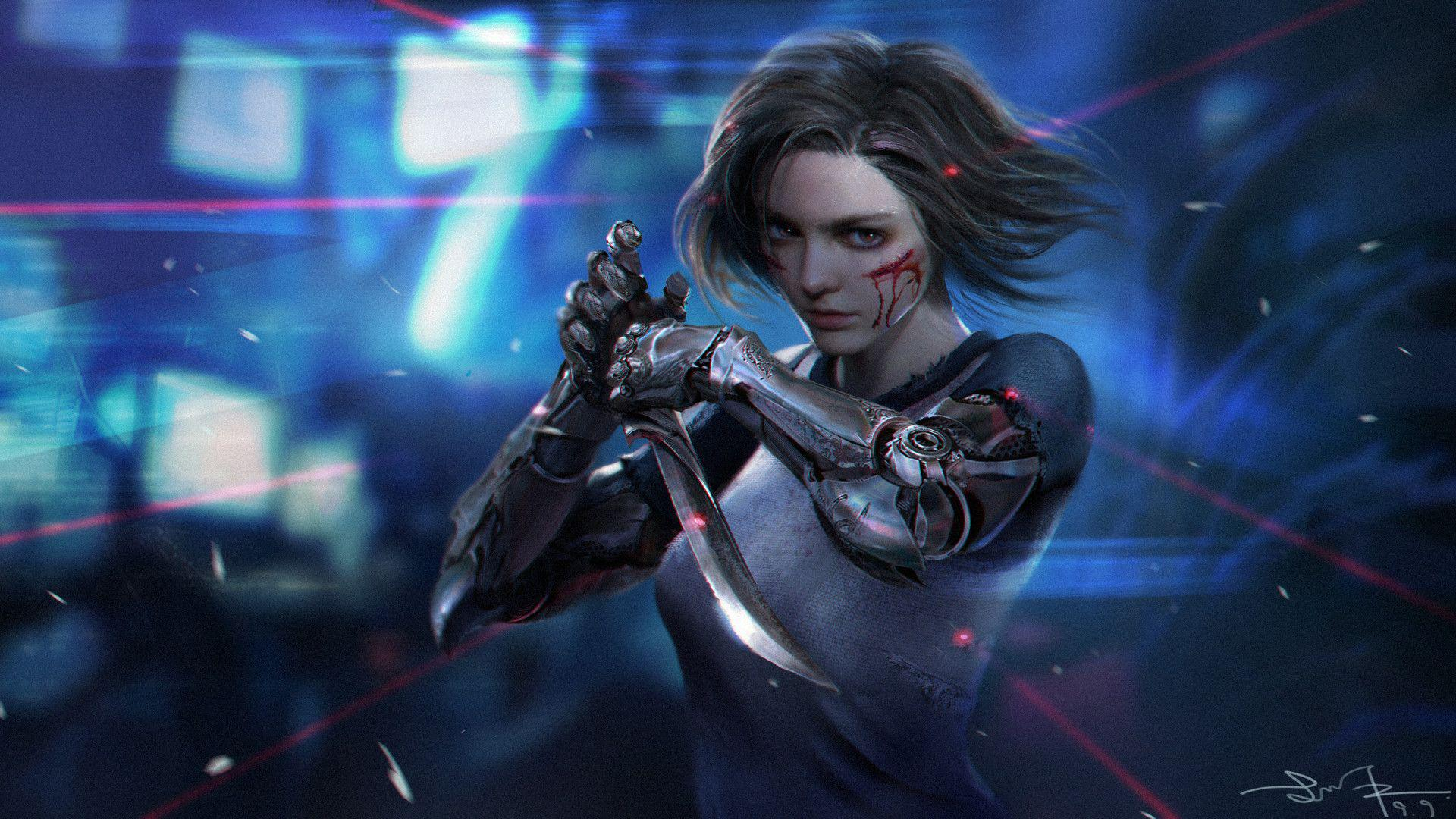 Wallpaper k Alita Battle Angel movies wallpapers k