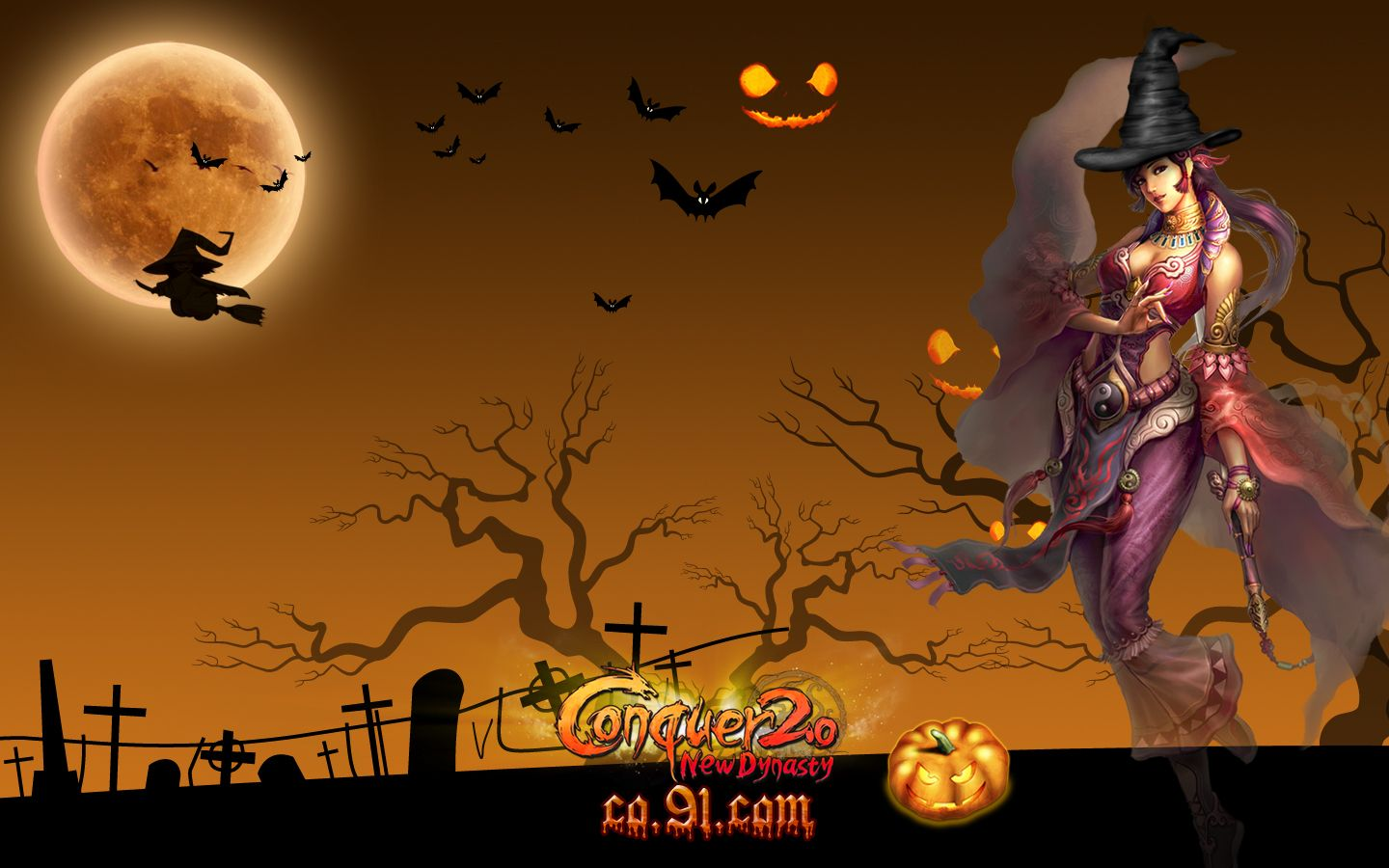 animated halloween wallpapers group 1440x900