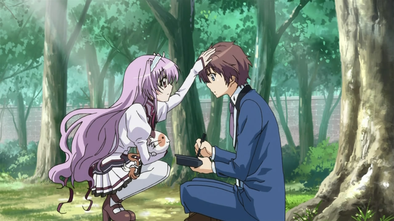 Romantic Anime Couple With Star Background Hd Wallpaper Download