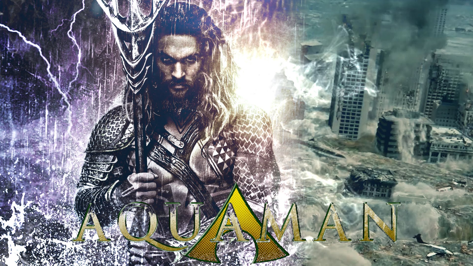 AQUAMAN Movie Trailer King of Atlantis Jason Momoa FanMade