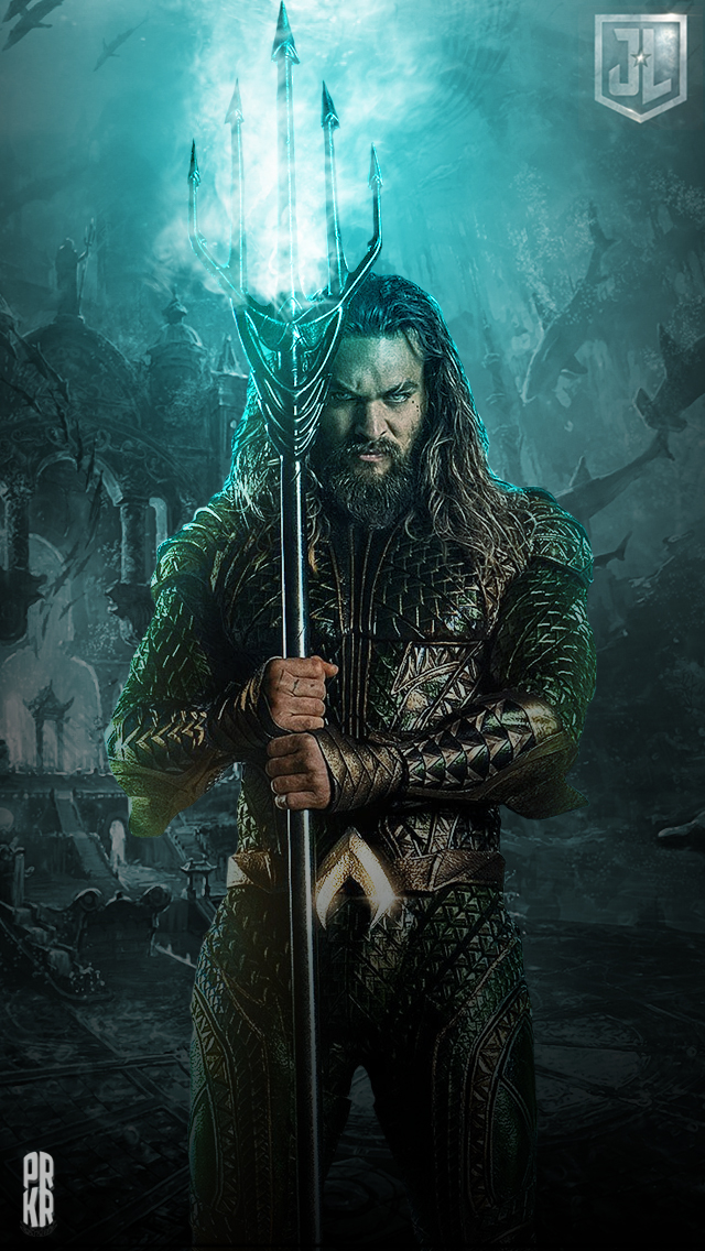 Aquaman Justice League iPhone HD Wallpaper by PRKRDesigns on
