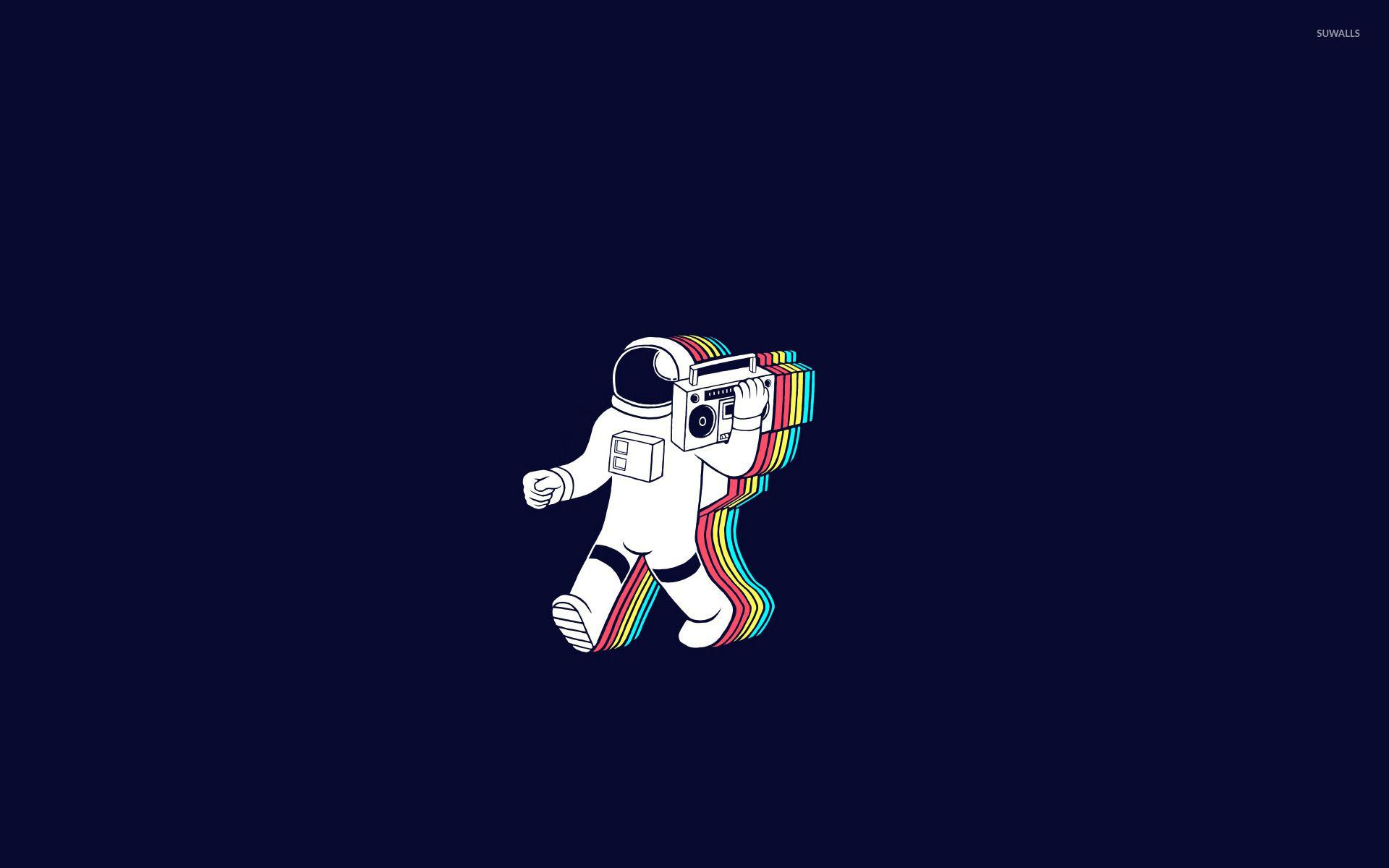 Galaxy Astronaut Wallpaper