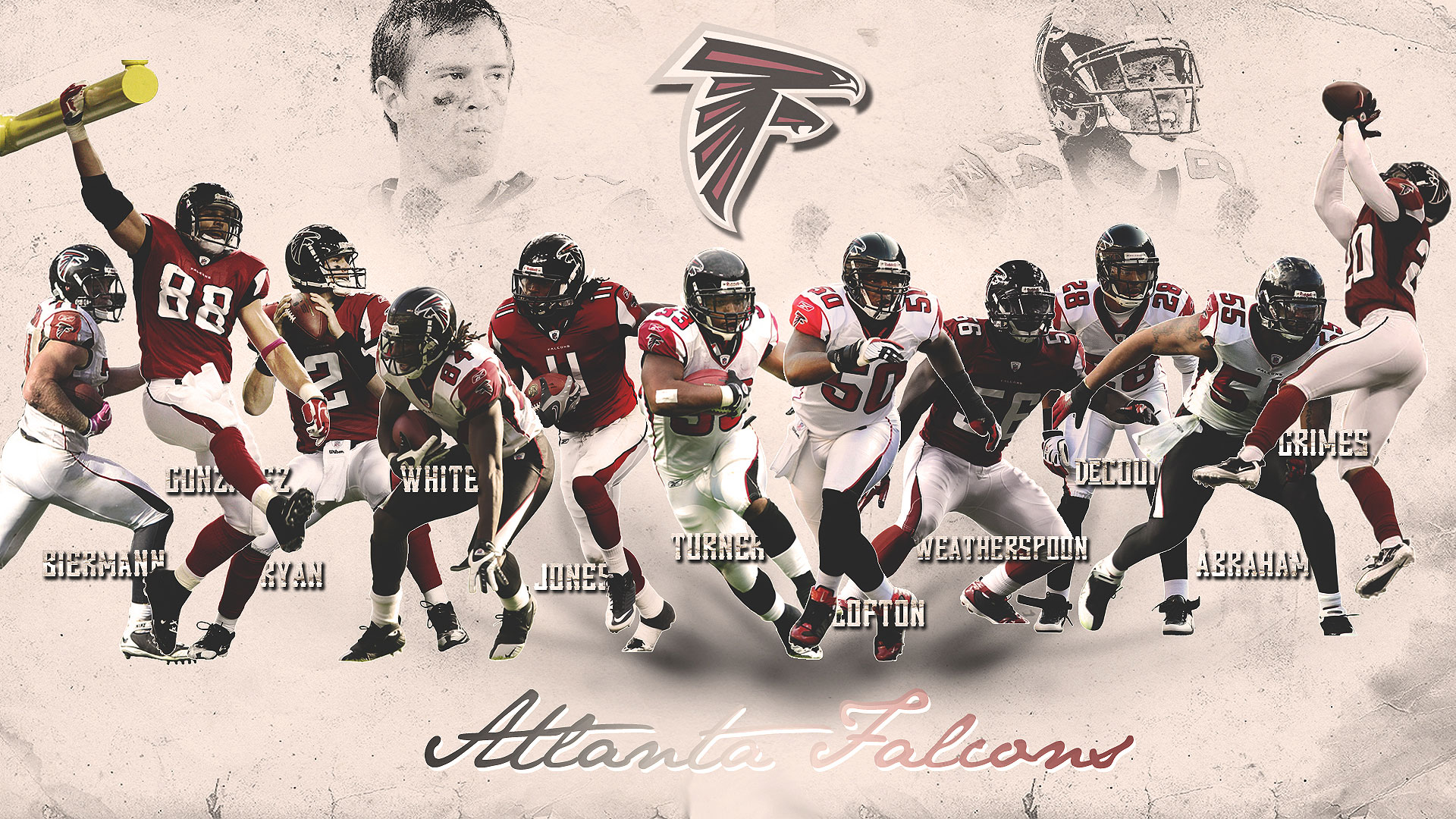 Atlanta Falcons  FREE Cell Phone Wallpapers  NFL Team Logos 1920x1080