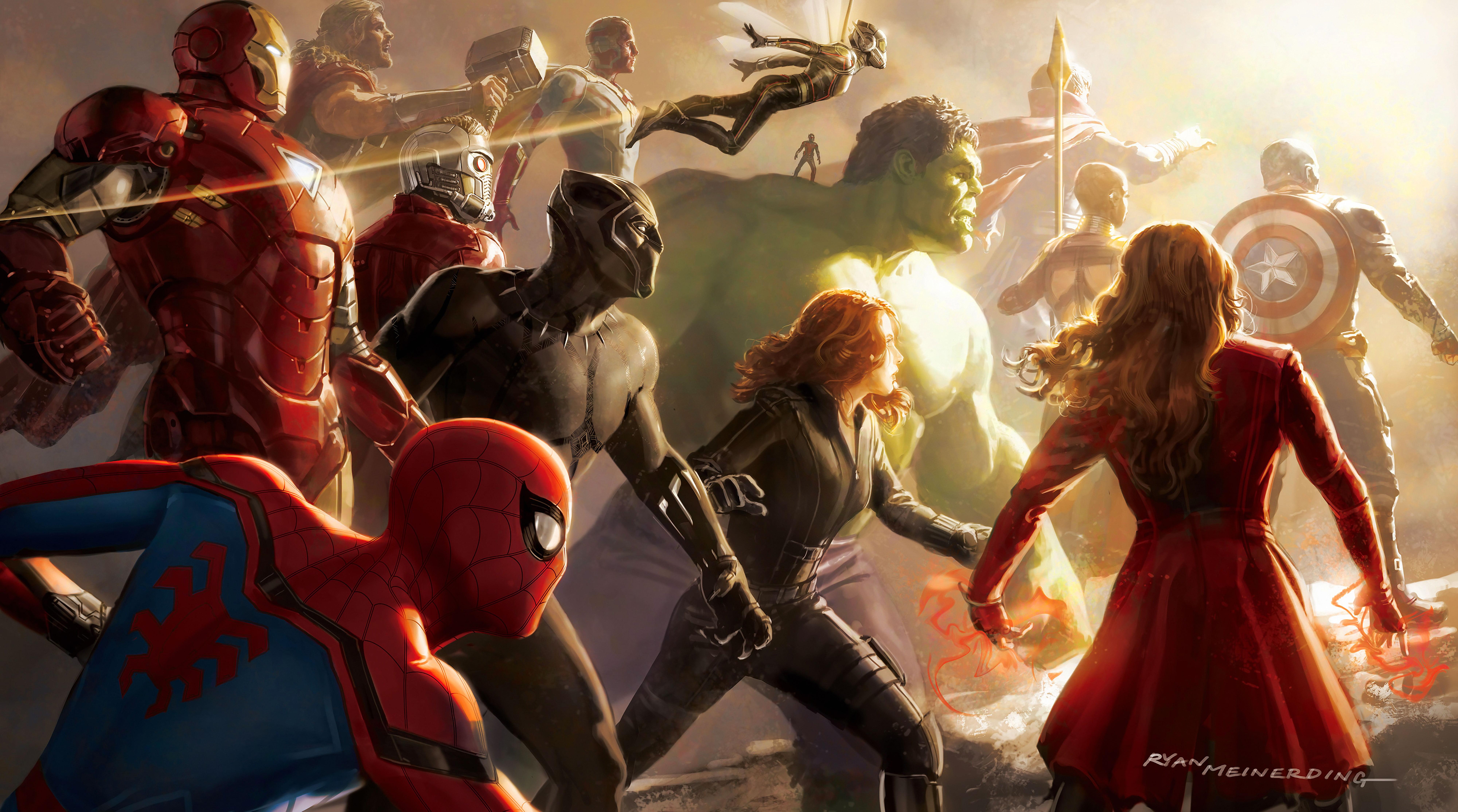Avengers Infinity War Logo K Hd Desktop Wallpaper For K Ultra