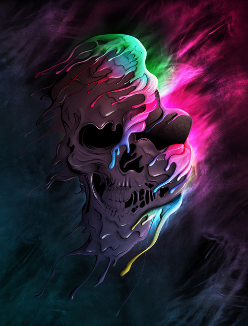 Cool Skull Wallpapers   Floral Skull Wallpaper Keywords and Tags 500x658