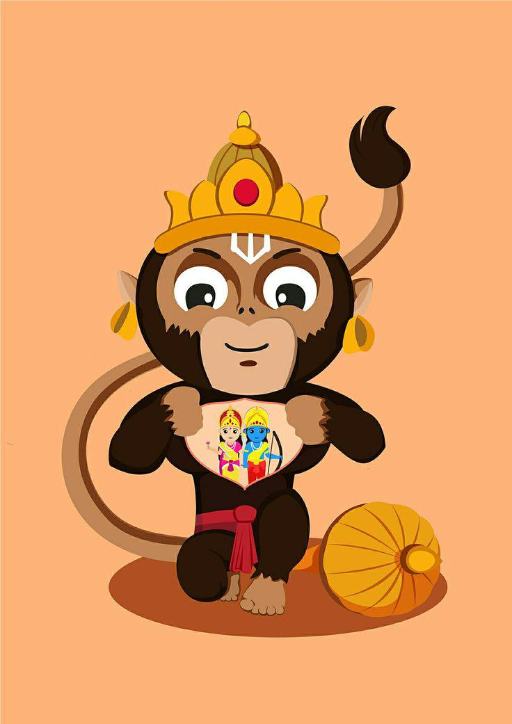 Buy Asmi Collections Wall Stickers Baal Hanuman Online at Low Prices rh