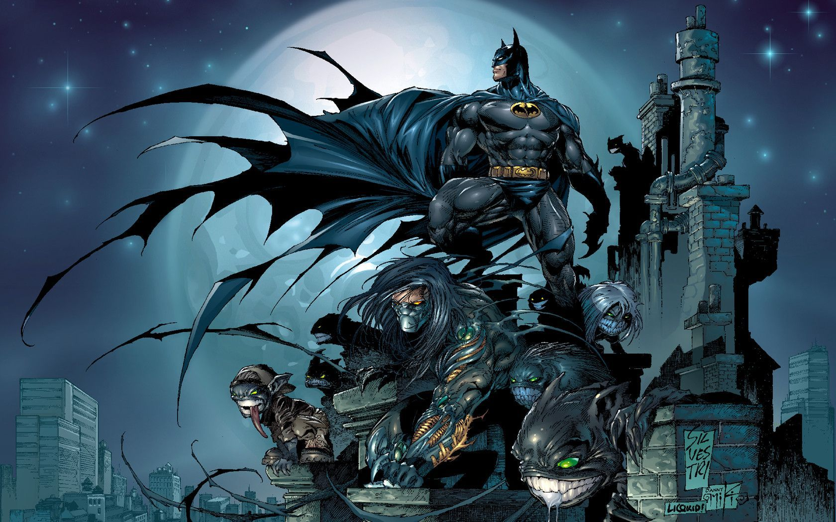 Spawn Batman Comic Wallpapers WallpapersInk Art Wallpaper 1680x1050