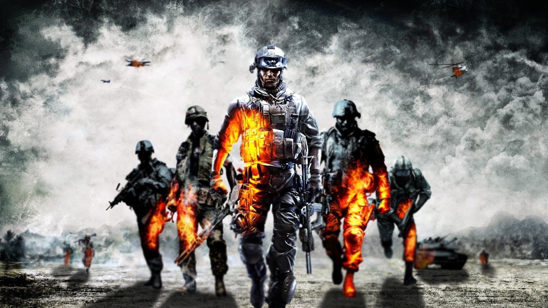 Cool Battlefield 4 Fire Armor In Black Background: Battlefield 4 Backgrounds HD (42 Wallpapers)