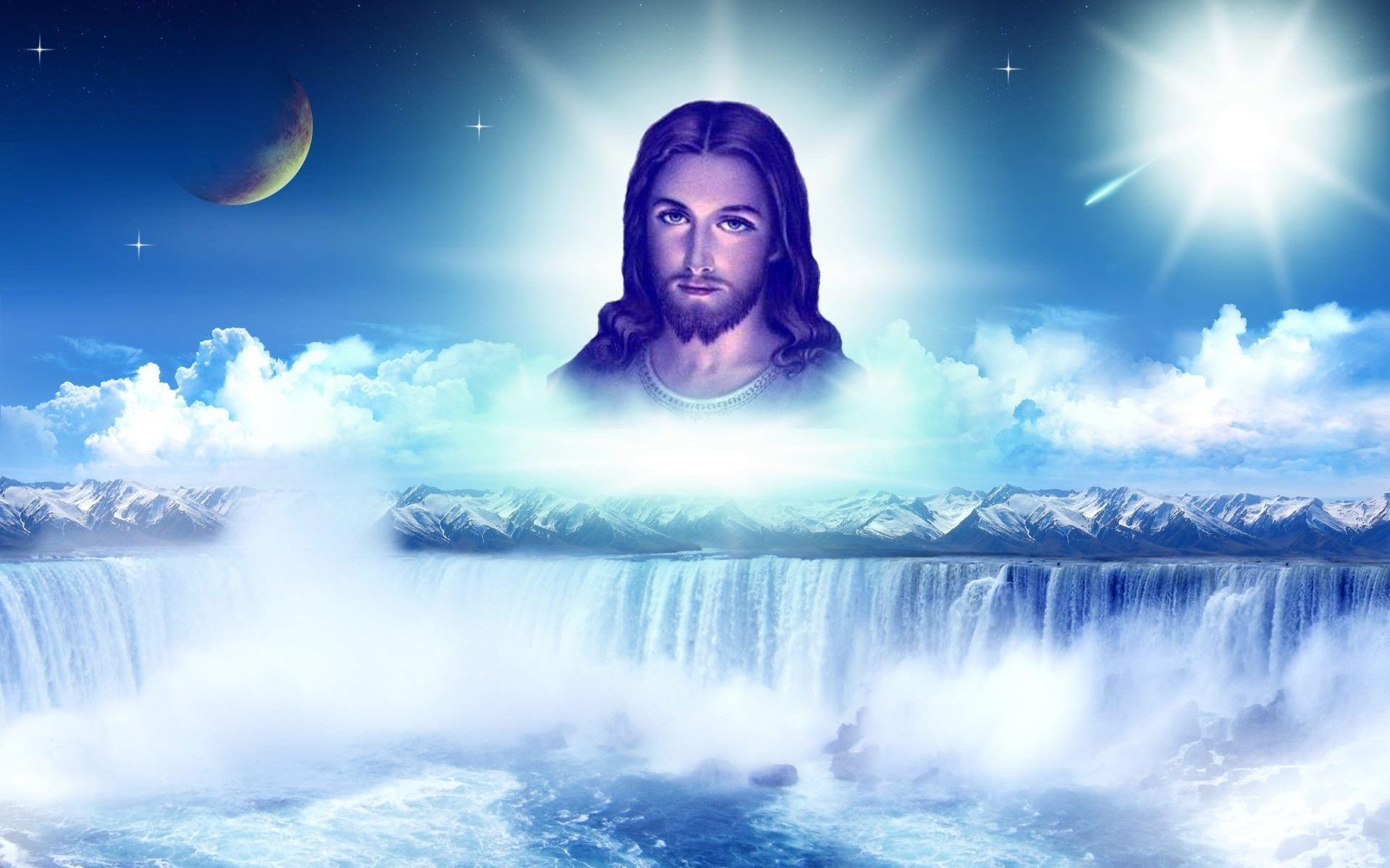 Jesus Wallpaper with Flower   1920x1200