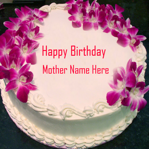 Write Name On Happy Birthday CakeHappy Greeting Card 500x500