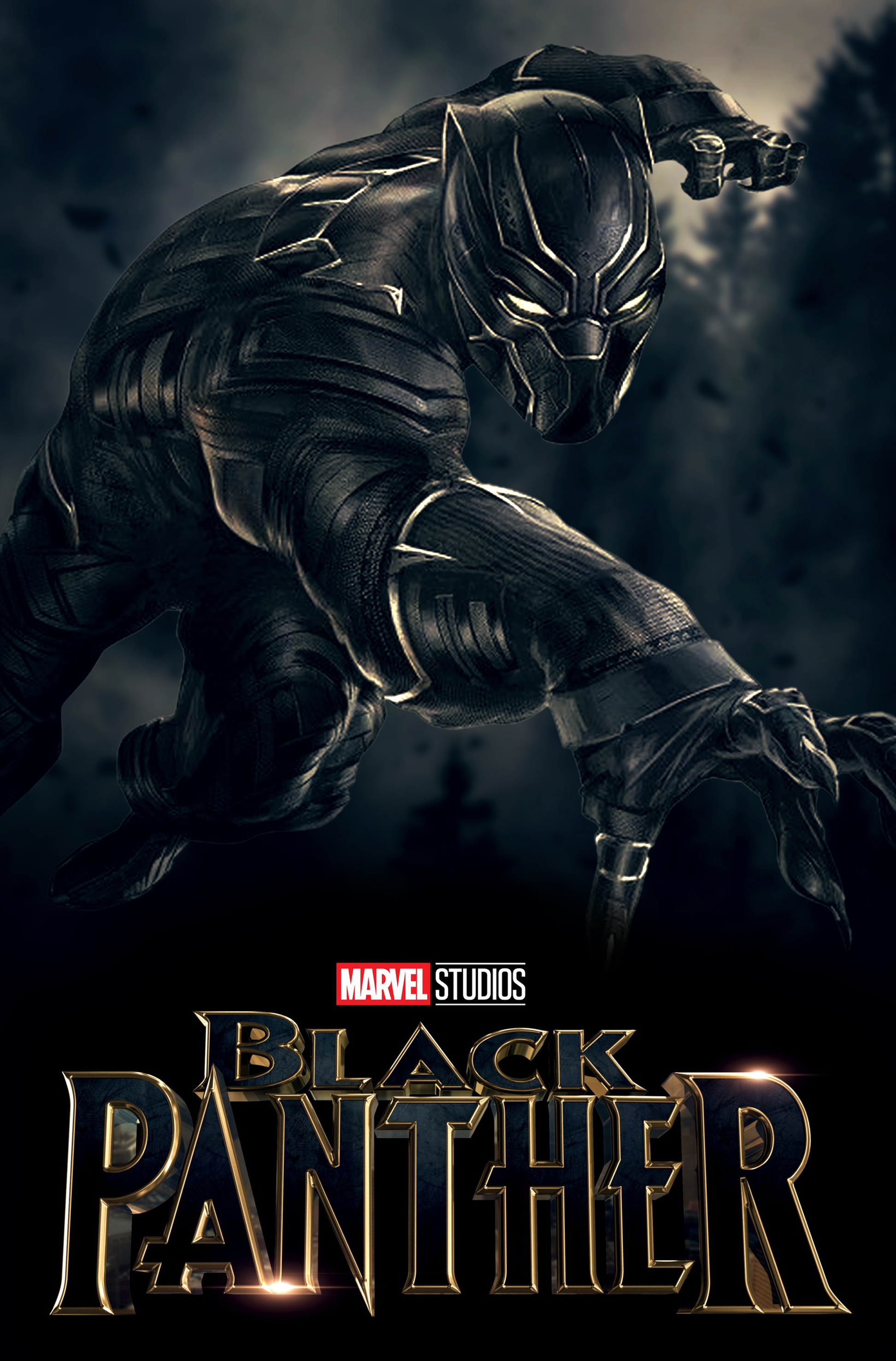 Black panther movie poster font