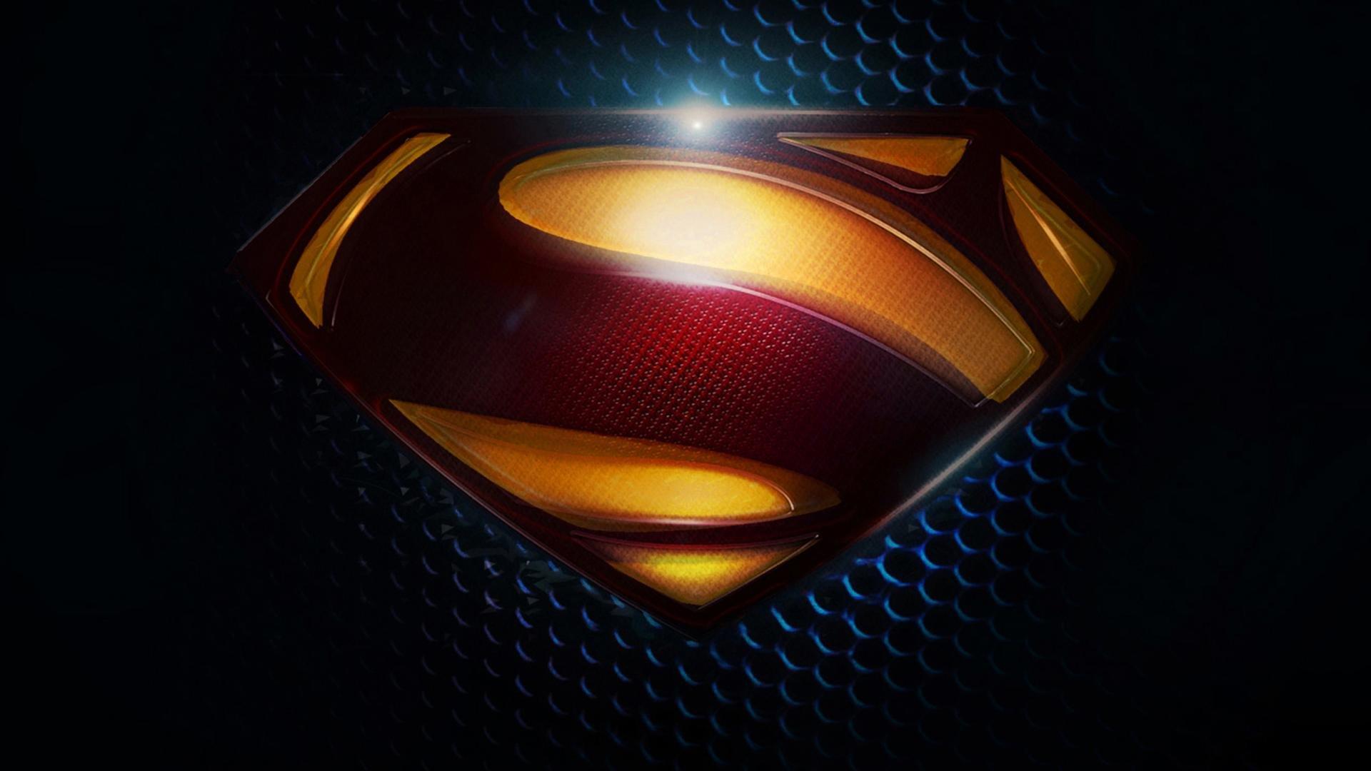 black superman logo wallpaper 1920x1080