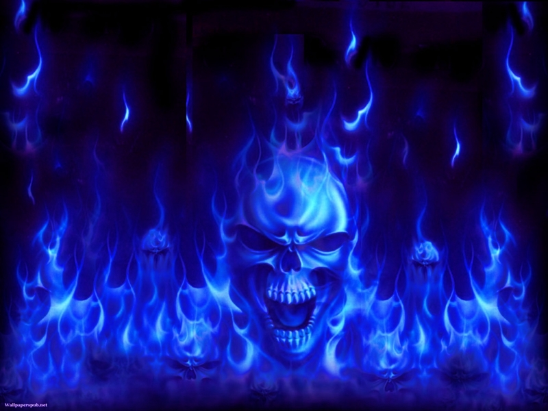 Blue And Green Fire Wallpaper Free Download 800x600