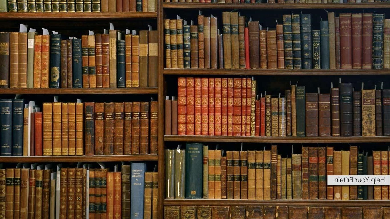 Bookcase Wide Wallpapers Hd 1366x768