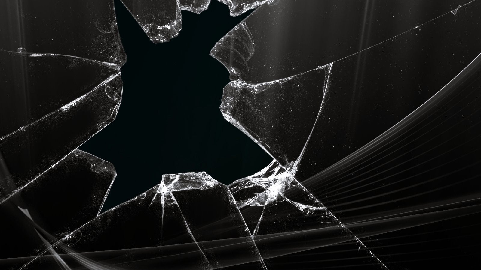 Broken Glass Screen iPhone  Wallpaper / iPod Wallpaper HD  Free 1600x900