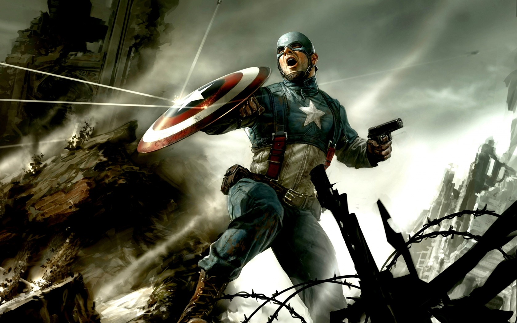 Captain America Hd Wallpapers Backgrounds Wallpaper 1680x1050