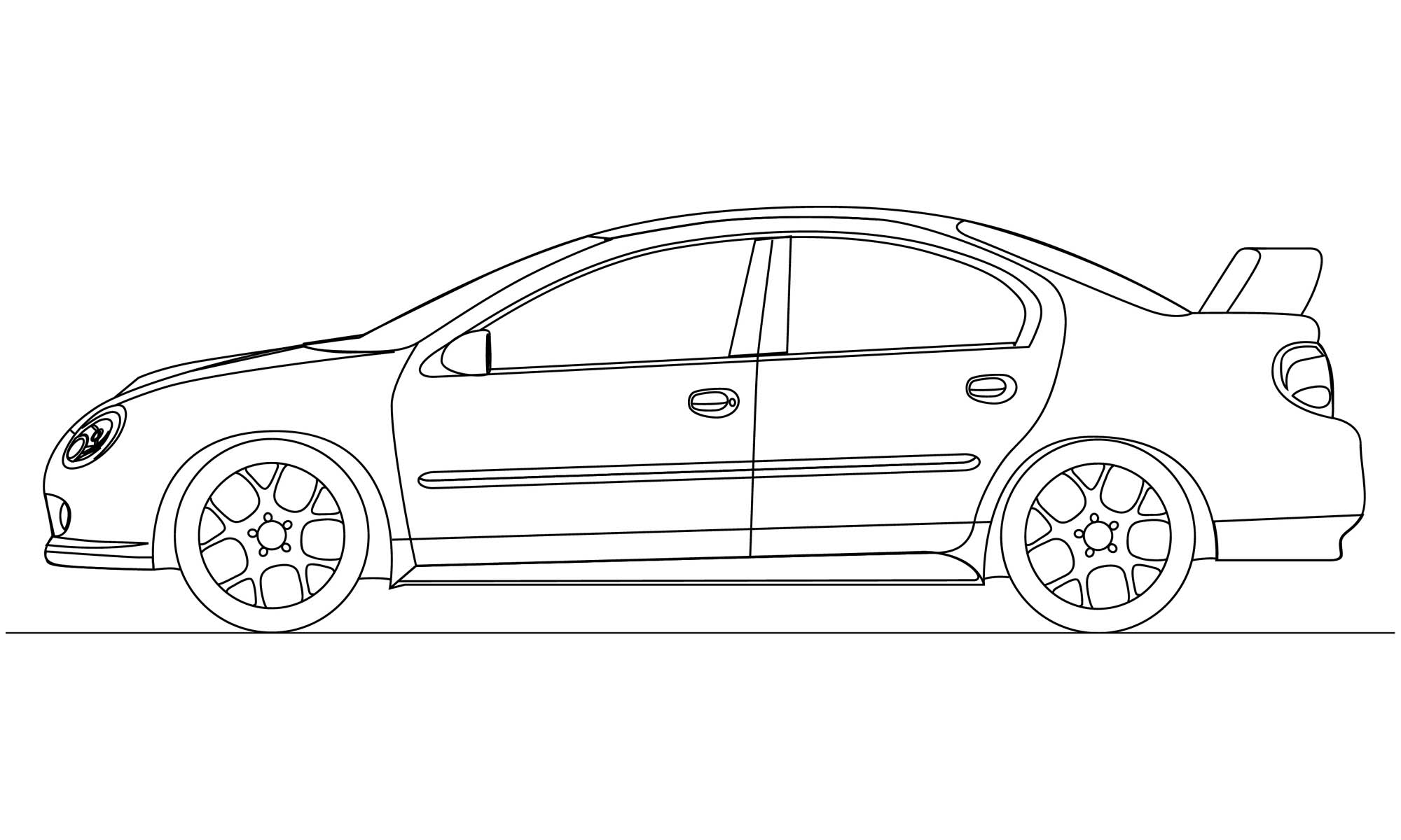 Line Drawings From D Models : Car drawings in pencil wallpapers