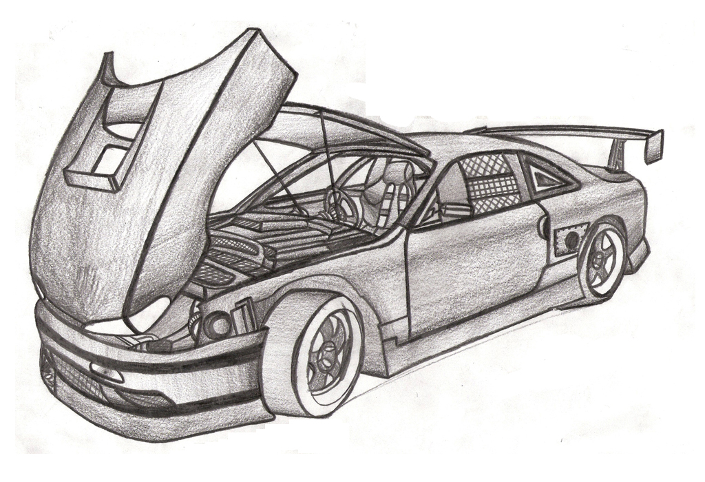 Car Drawings In Pencil, High Quality Wallpapers, Full HD Pics  LL 1024x700