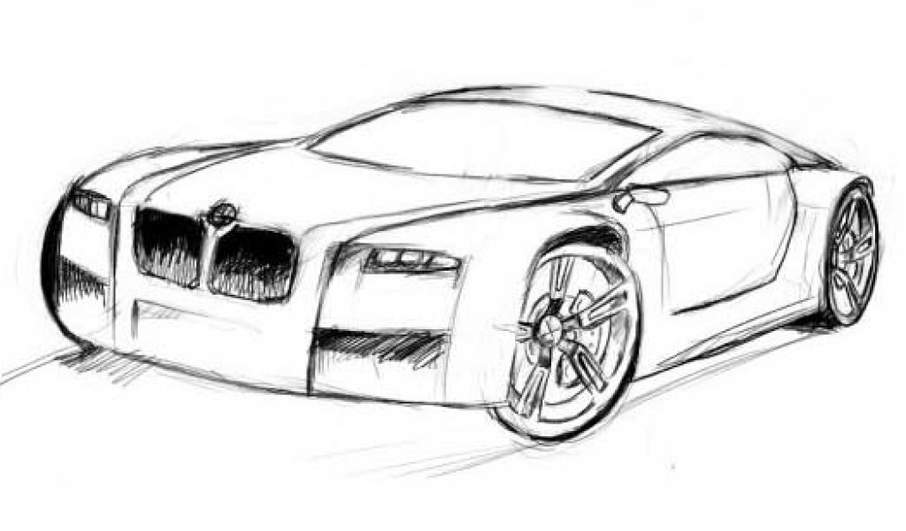 Cool Car Drawings In Pencil Wallpaper Iphone Camaro Side View 1024x600