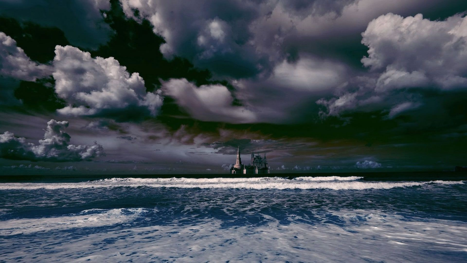 Beaches Ocean Clouds Beach Sky Photography Sand Castle Nature