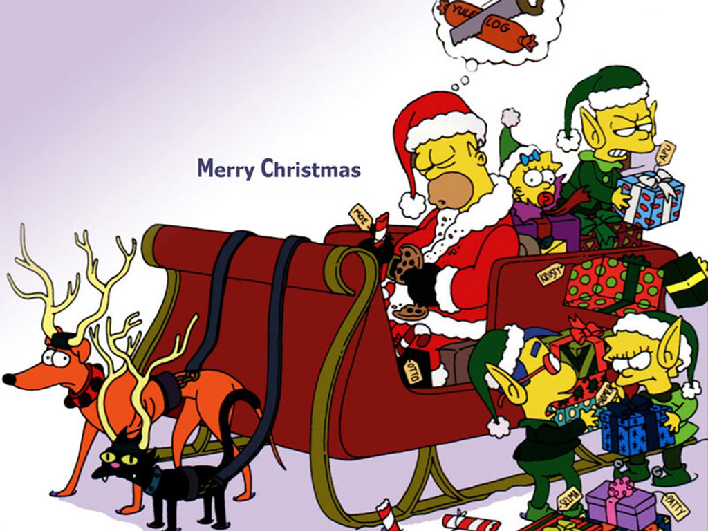 New Cartoons Wallpapers For Christmas Greetingsforchristmas 1024x768