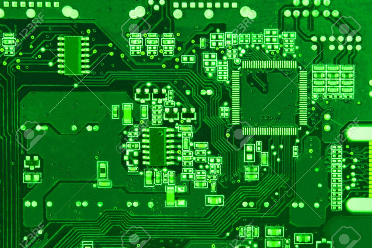 Circuit Board Vector Background Stock Vector Shutterstock 1300x866