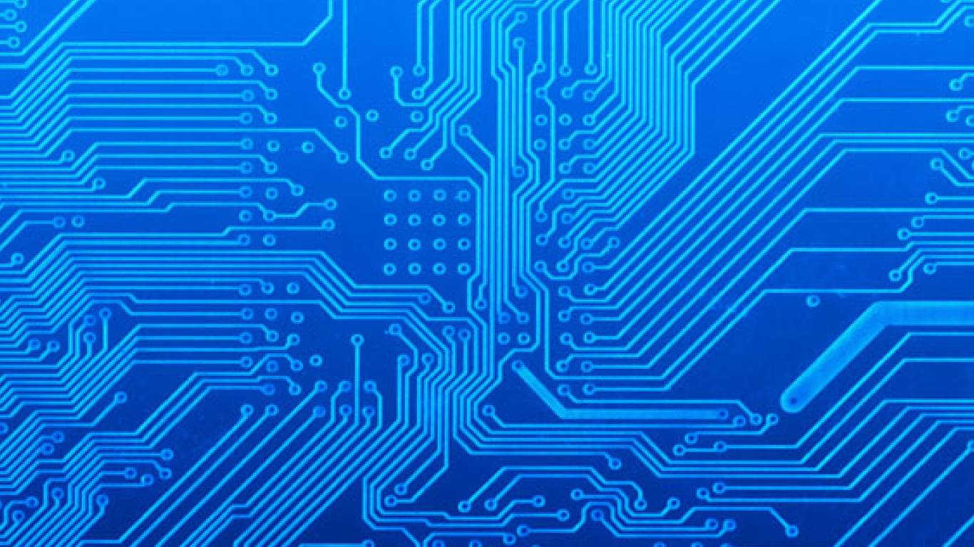 Vector Abstract Circuit Board Background Design Download Free 1366x768