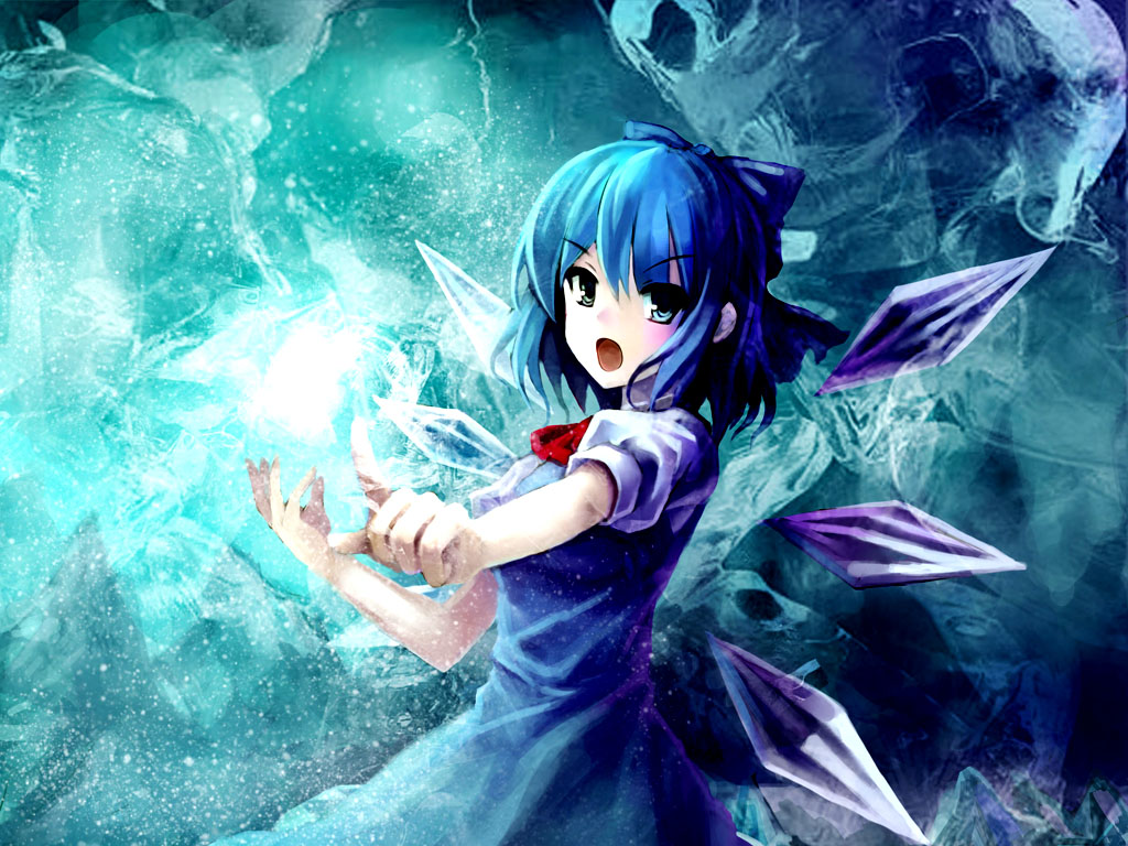Touhou, Cirno, Simple Wallpapers HD / Desktop and Mobile Backgrounds 1024x768