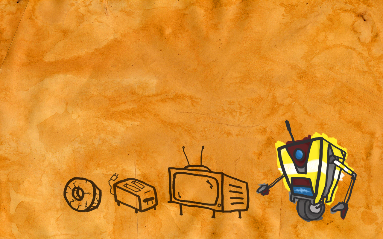 DeviantArt: More Like Dog and Claptrap wallpaper by Sethial 1280x800