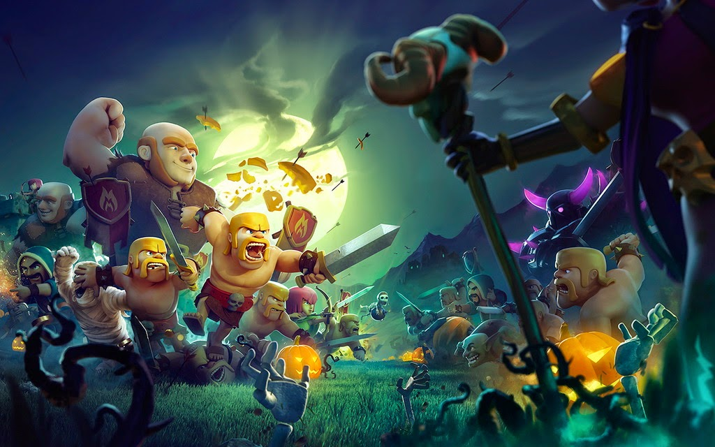 Clash of Clans wallpapers, SIGs and more Clash of Clans Wallpaper Team Men  Speed Art, Fan Art 1024x640