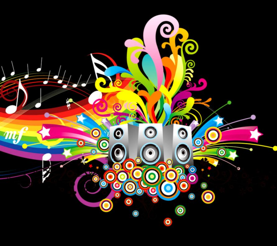 colorful music notes wallpapers full hd scerbos music