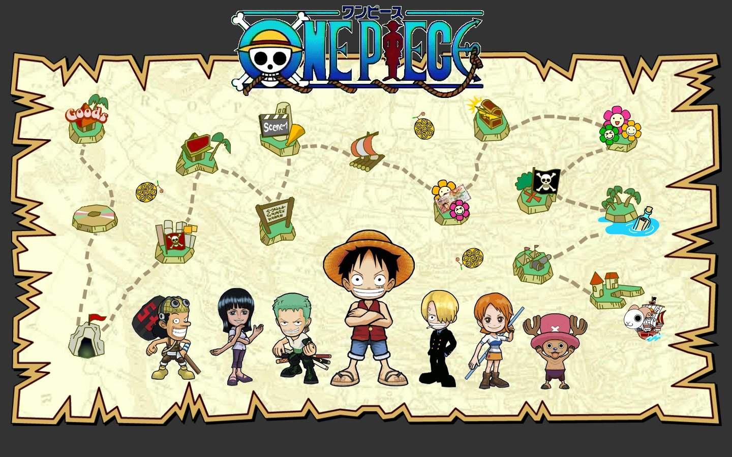 One Piece Wallpapers Best Wallpapers 1440x900