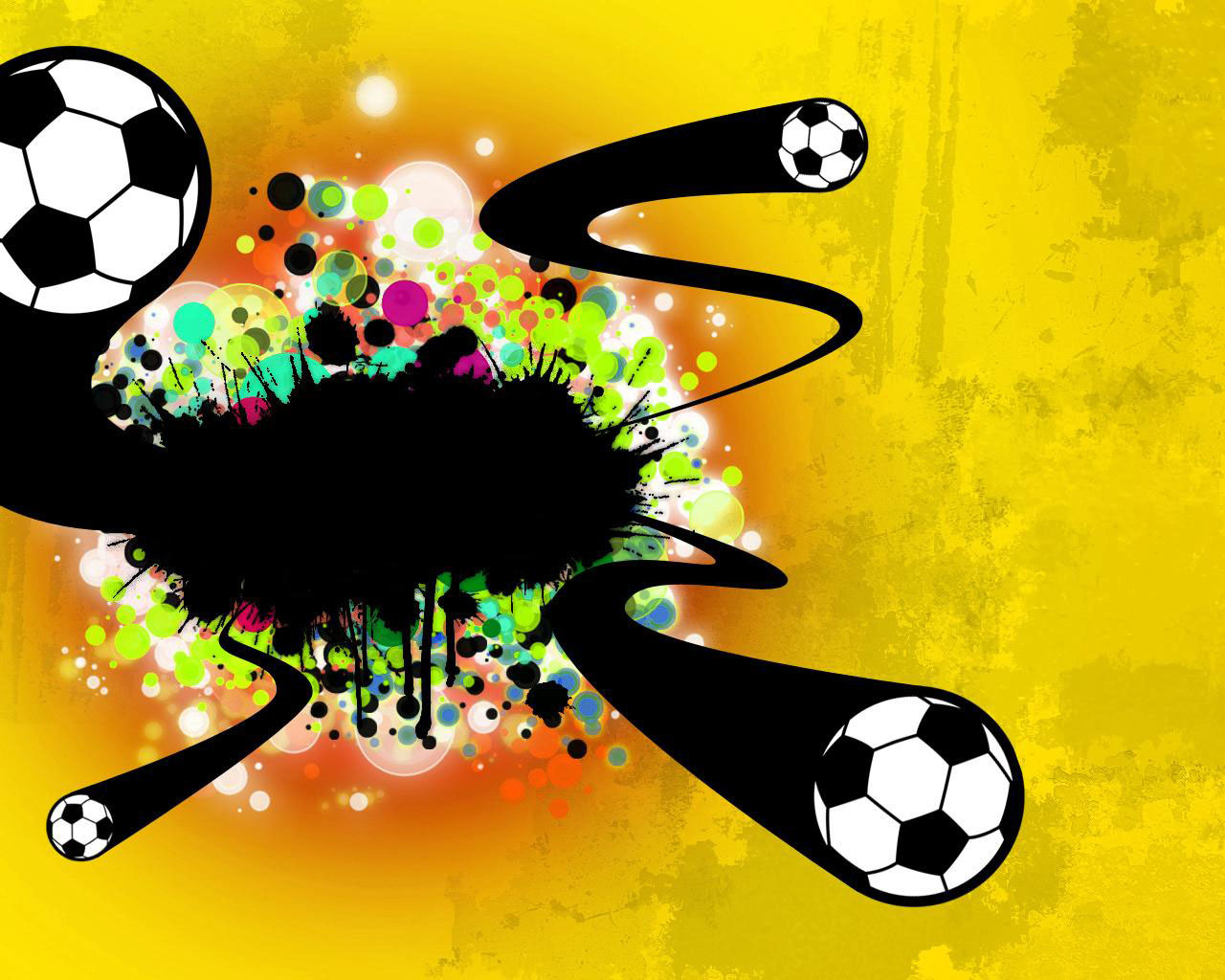Cool Soccer Ball Wallpaper 1280x1024