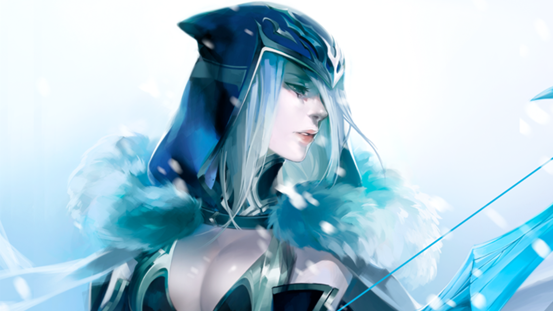 Wallpaper illustration cosplay anime snow League of Legends