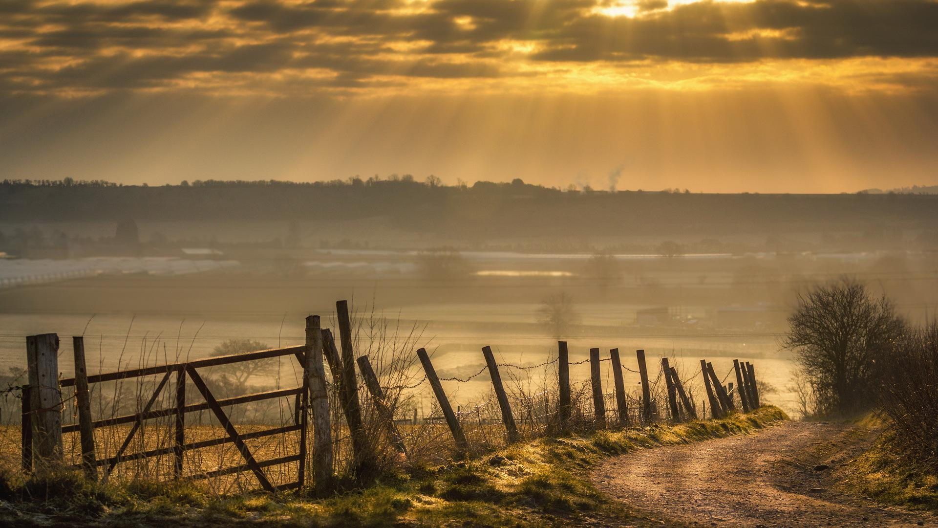 Nature Country Fence Road View IPhone Wallpaper Wallpapers 1920x1080