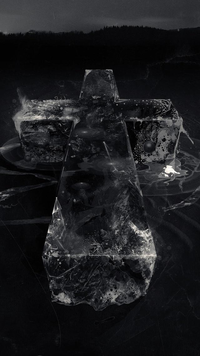 X Black Cross Iphone