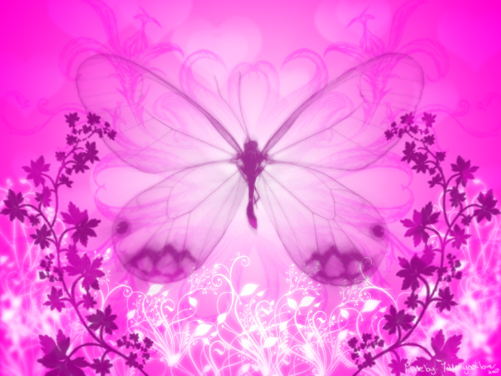 Cute Butterfly Backgrounds 1024x768