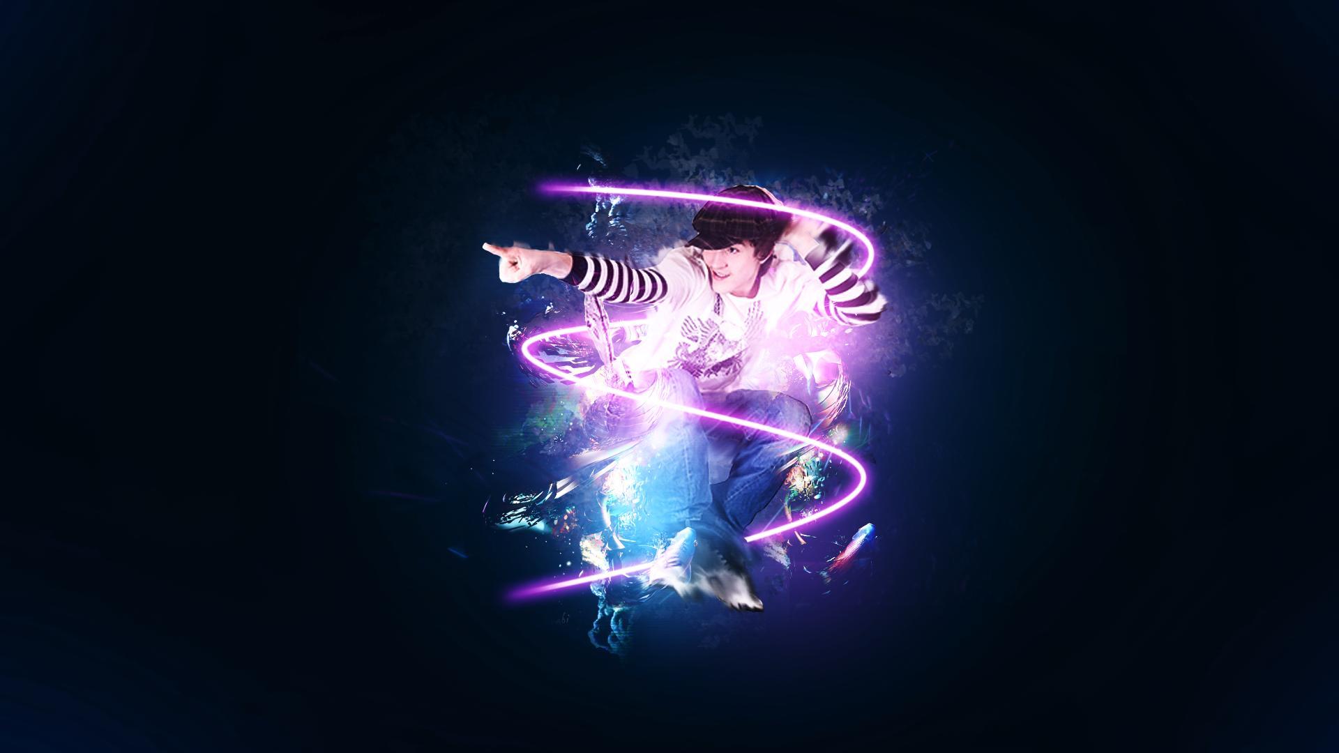 Neon lights around the dancer wallpaper 1920x1080 voltagebd Choice Image