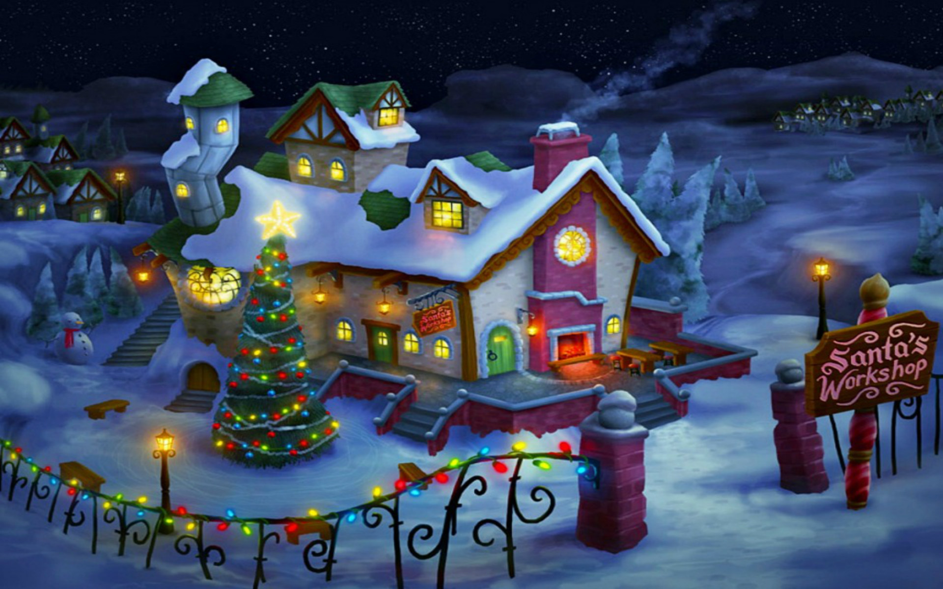 best merry christmas desktop background for pc laptop mac 1920x1200 - Christmas Desktop Background