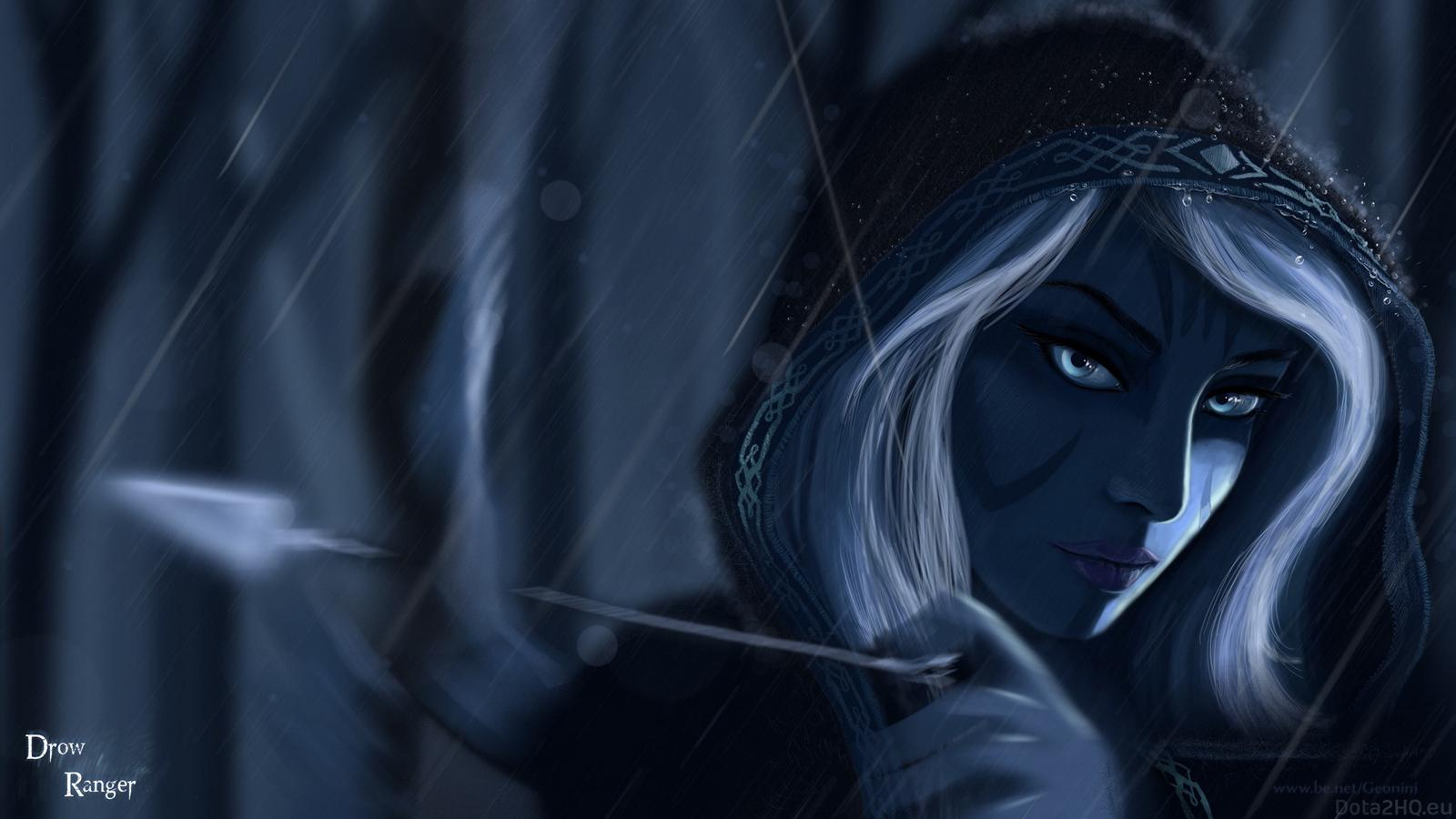 Drow Ranger k Ultra HD Wallpaper Background Image