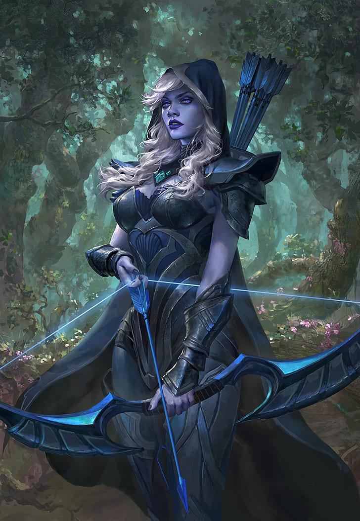 Download wallpaper x traxex drow ranger dota