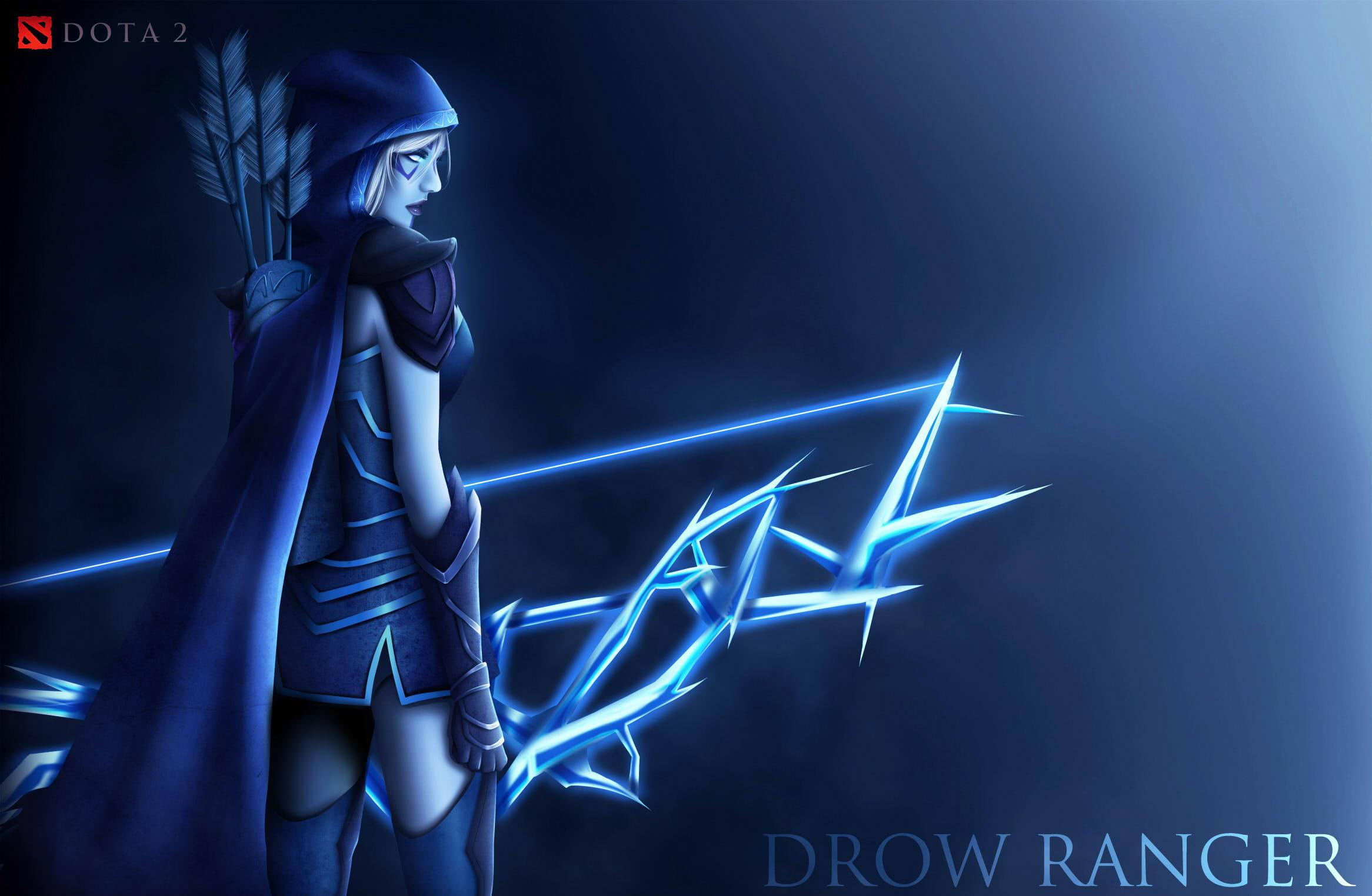Dota Games Drow Ranger Hd Wallpaper Wallpapers