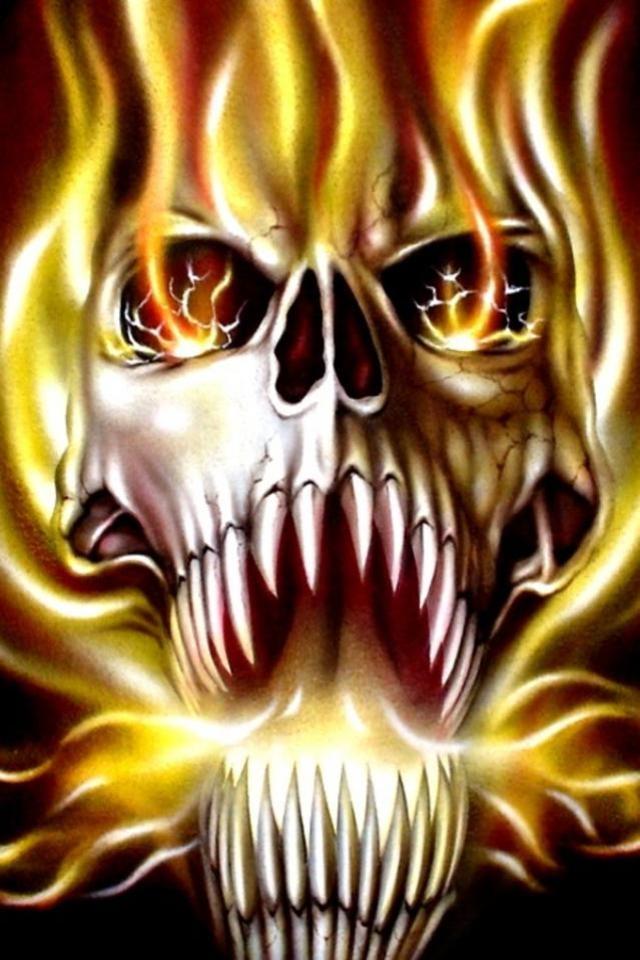 Pirate Skull Wallpaper 640x960