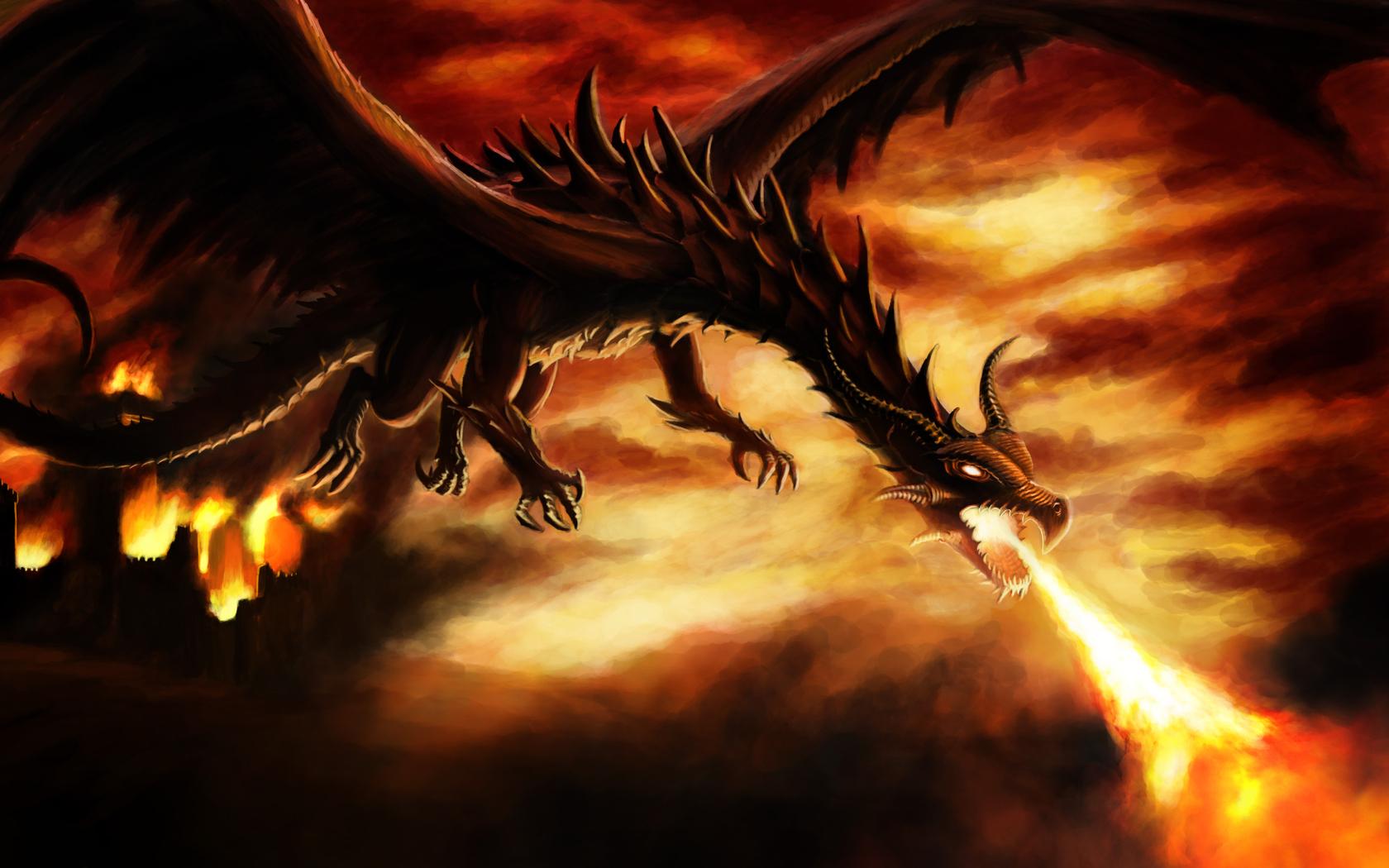 dragons desktop wallpaper 1680x1050