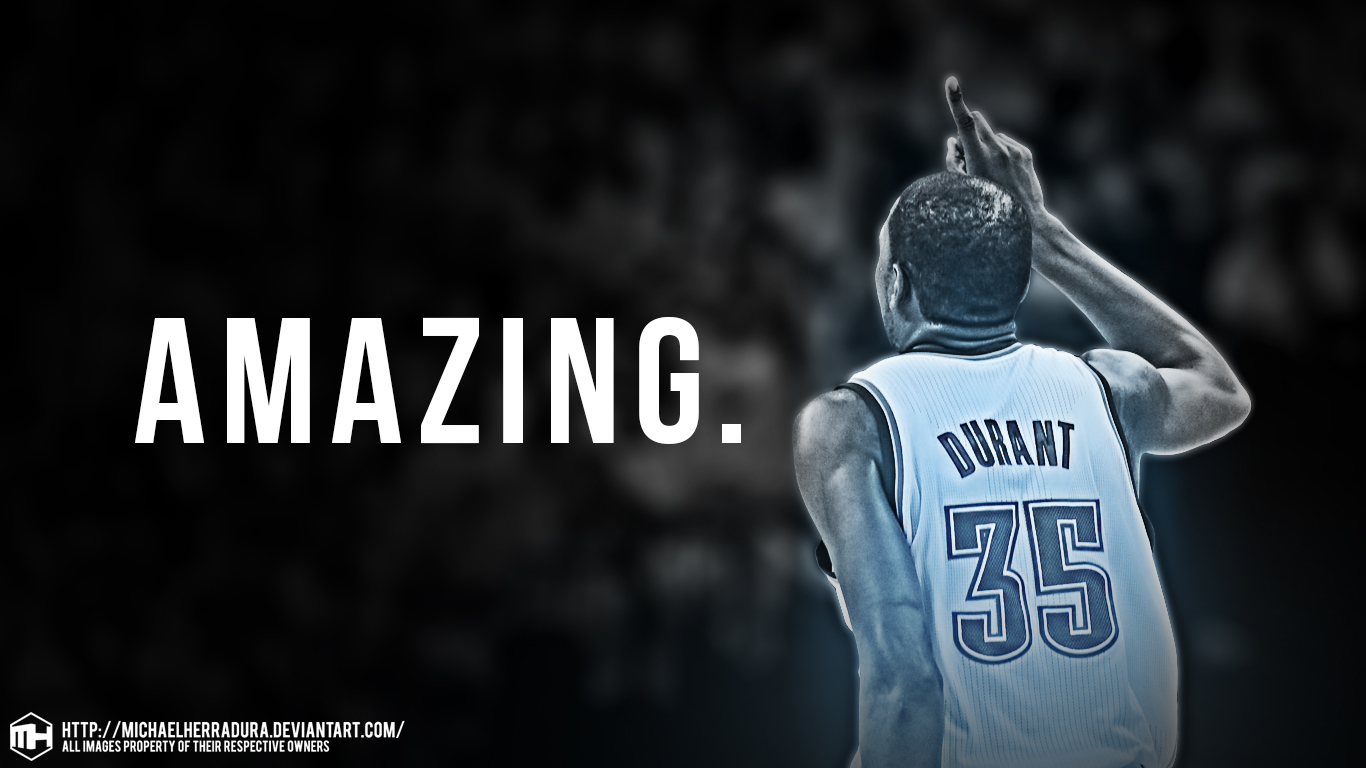 NBA Kevin Durant Iphone Ipod Wallpaper WALLPAPERS 1366x768