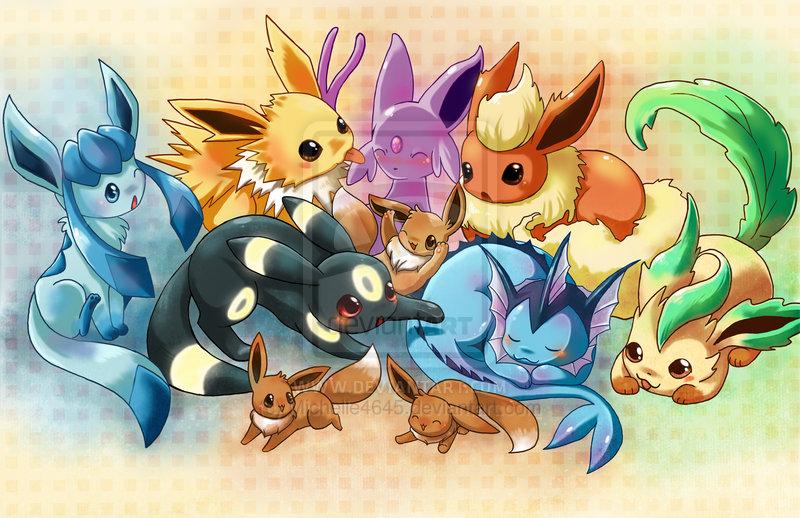 Pokemon Eevee Evolutions Wallpaper 800x518