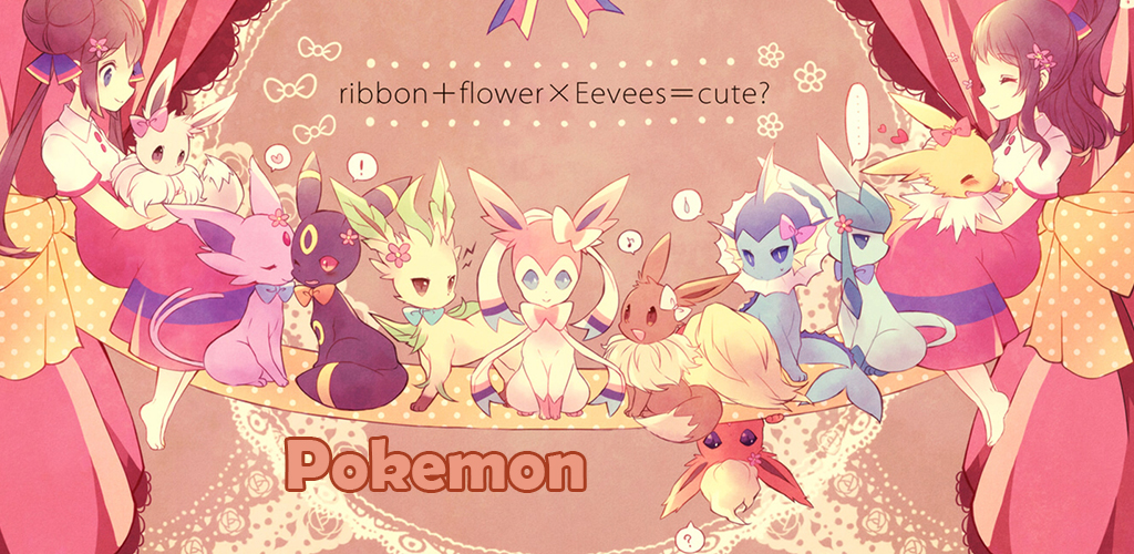 Eevee evolutions wallpaper 1024x500